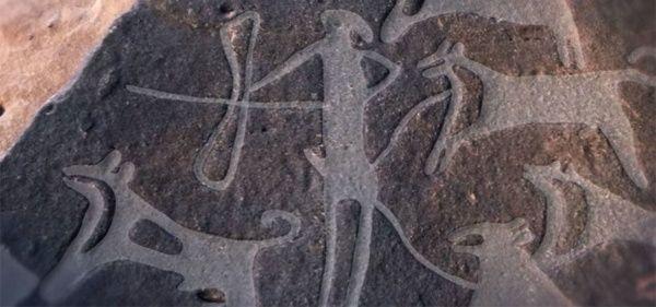 Hallan dibujos de perros domésticos con ocho mil años de antigüedad