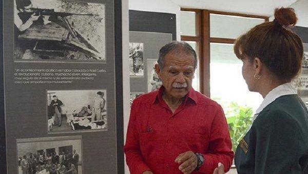 Oscar Lopez visiting the Memorial Sculptural Complex Ernesto Che Guevara in Santa Clara, Cuba.