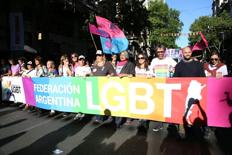 The march began in thefamous Plaza de Mayo in Buenos Aires.