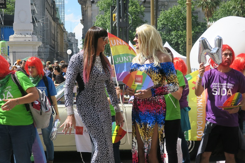 Community leaders and known figures of the LGBTI movement headed the march.