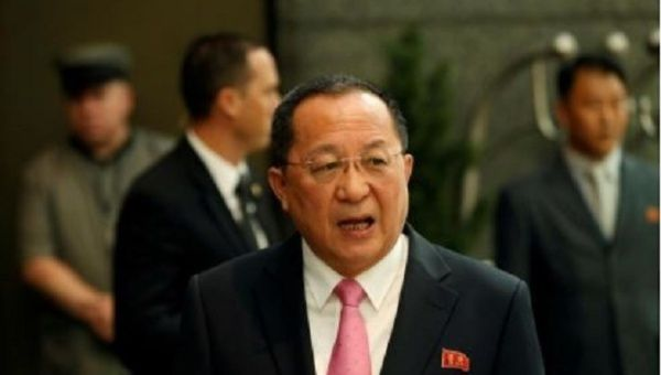 Foreign Minister Ri Yong-ho of the DPRK.
