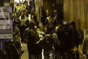 Diogo Cintra (in the lower middle portion of the video) is hustled out of the metro station by unidentified men.