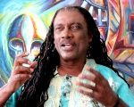 Mighty Gabby Interview during an interview on his life and career at JulBeArt studio, Barbados, January 2012.