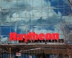A sign marks the Raytheon offices in Woburn, Massachusetts, U.S. January 25, 2017.