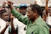 In 2000, Robert Mugabe greeted supporters after vowing to reclaim land from white farmers.