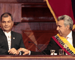 Correa during the swearing in ceremony of Moreno on May 24, 2017.