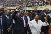Thousands of people gather to celebrate the inauguration of Emmerson Mnangagwa.