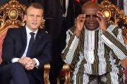 French President Emmanuel Macron and Burkina Faso's President Roch Marc Christian Kabore.