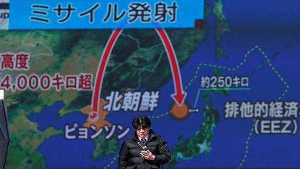 À la veille de la Corée du Nord a lancé un nouveau missile balistique intercontinental.