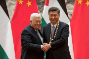 Palestine Authority president Mahmoud Abbas AND Chinese President Xi Jinping in Beijing.