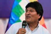 Bolivia's President Evo Morales speaks during a news conference at the the venue where the Gas Exporting Countries Forum (GECF) Summit will be held in Santa Cruz, Bolivia, November 20, 2017.
