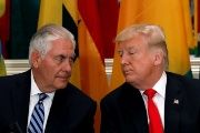 Secretary of State Rex Tillerson and U.S. President Donald Trump.