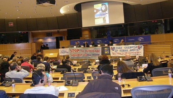 """The European Parliament described the Cuban blockade as """"the greatest violation of the human rights of an entire people."""""""