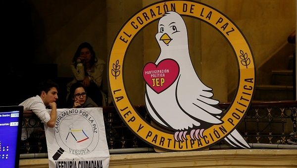 Colombia's lower house, during voting on whether to approve the transitional justice courts established in the peace agreement with the FARC.
