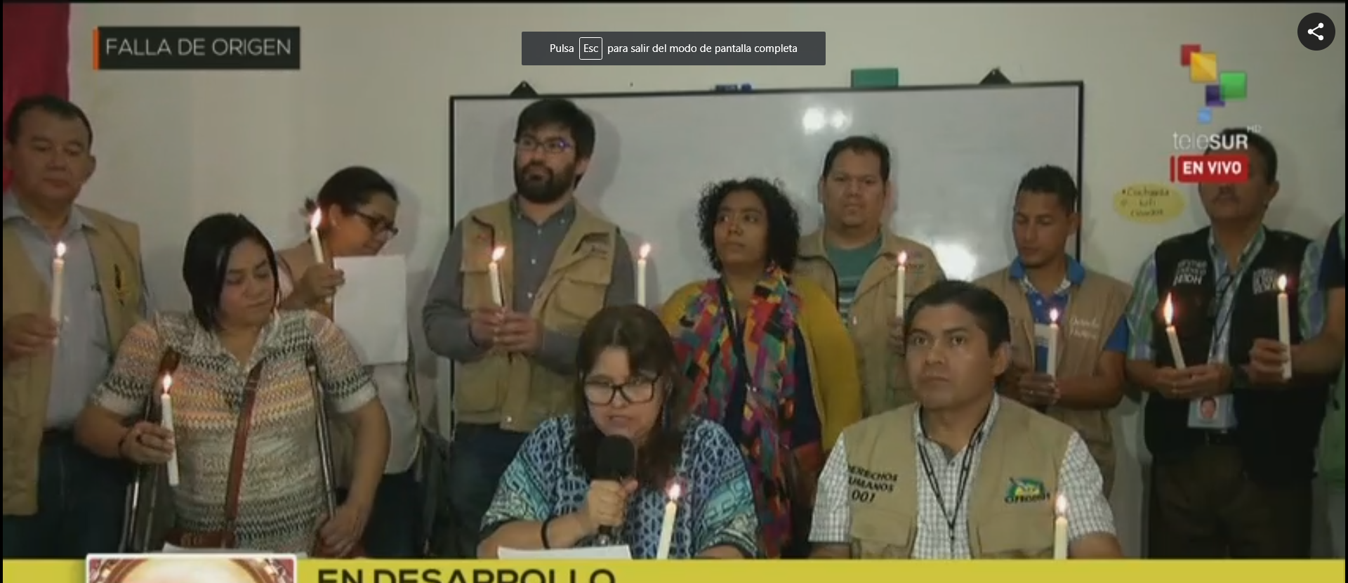 Exhortaron a los hondureños a mantenerse vigilantes en cualquier lugar del país, ante lo que denuncian como un fraude electoral.