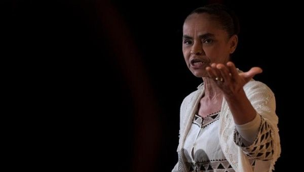 Evangelical environmentalist Marina Silva, who founded the Sustainability Network party she now leads.