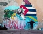 A mural dedicated to late Cuban leader Fidel Castro in Naples, Italy.