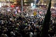 Huge crowd gathered in Tel Aviv to protest government corruption.