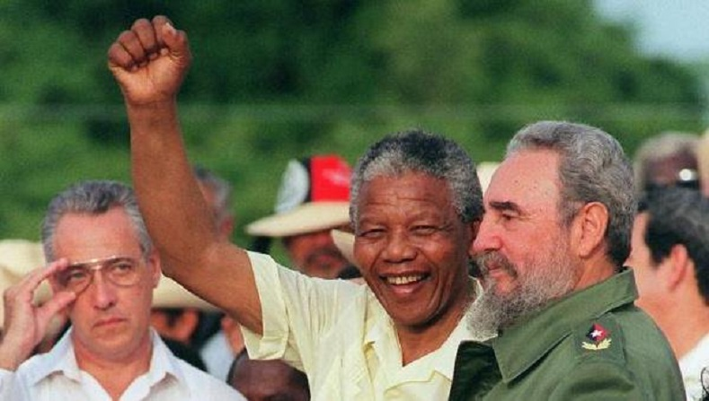Mandela traveled to Cuba in 1991 to thank Fidel Castro and the Cuban people for their concrete help in the fight against apartheid.