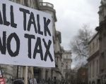 A London protest against tax havens.
