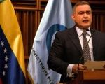 Venezuelan Attorney General Tarek William Saab speaks at a press conference.
