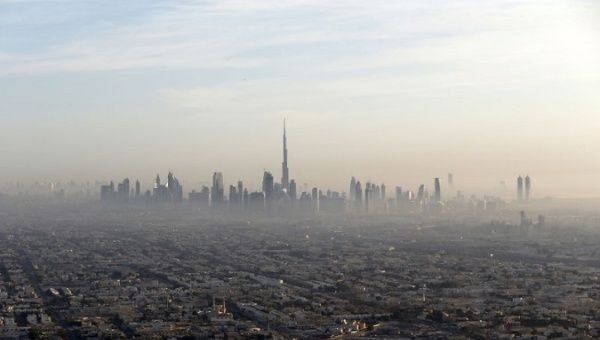 A general view of Dubai and the world