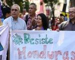 Demonstrators gathered on Tuesday at Plaza Bolivar in Caracas, Venezuela, to denounce the silence over the situation in Honduras.