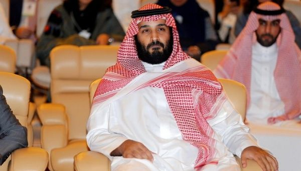 Saudi Crown Prince Mohammed bin Salman pictured at the Future Investment Initiative conference in Riyadh, Saudi Arabia October 24, 2017.