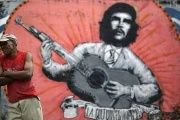 A painting of late revolutionary hero Ernesto 'Che' Guevara in Havana.