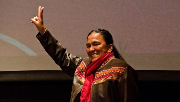 Indigenous Argentine activist Milagro Sala, who has been acquitted of criminal charges involving threats against law enforcement.