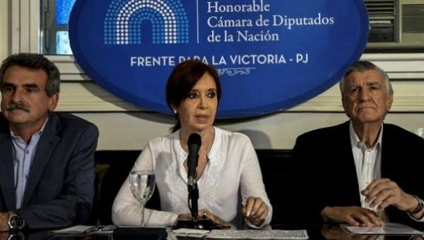 """Macri is the conductor of the orchestra and Bonadio executes the judicial score,"" the former president told a press conference."