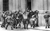 People are arrested during the military coup in Chile, September 1973.