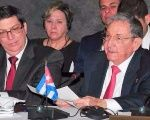 Cuban President Raul Castro speaks at the Caricom-Cuba meeting.