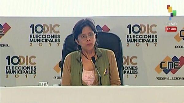 CNE Vice President Sandra Oblitas
