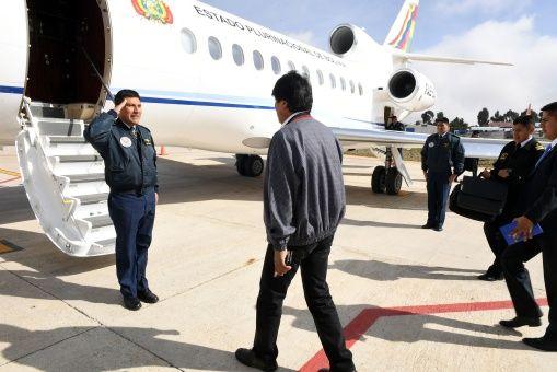 Resultado de imagen para Partió Evo Morales a CIJ