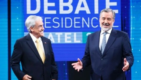 Chilean presidential candidates, leftist Alejandro Guillier and right-wing ex-President Sebastian Pinera, participated in a debate.