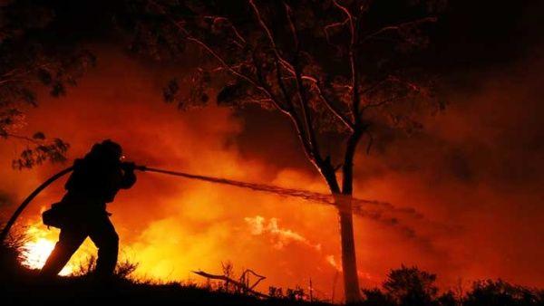 En Ventura se ha producido hasta ahora la única muerte confirmada por los fuegos, la de una mujer de 70 años.