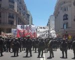 Workers and activists take to the streets of Buenos Aires against labor and pension reforms