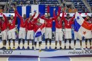 Panamanian Basketball Team Accepts Gold Medal in XI Central American Sports Games. Dec. 8, 2017.