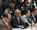 Ecuadorean former Vice-President Jorge Glas attends trial for corruption in the ongoing Odebrecht scandal.