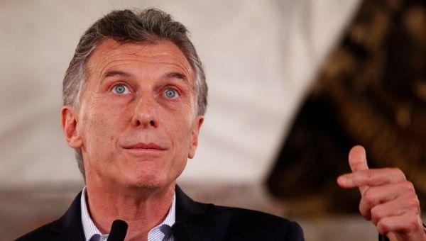 Argentinas President Mauricio Macri Gestures During A News Conference At The Casa Rosada Presidential Palace In Buenos Aires Argentina December