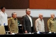 Cuban President Raul Castro (L) at the Popular Power's National Assembly in Havana.