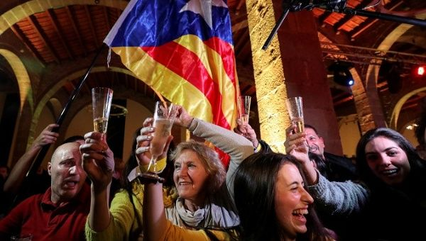 People react to results in Catalonia