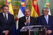 Former Spanish President José Luis Rodríguez Zapatero, Dominican Republic President Danilo Medina and his chancellor Miguel Vargas are overseeing the Venezuelan dialogue.