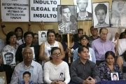 Relatives of victims of massacres committed under the government of Alberto Fujimori.