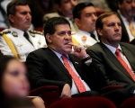 Paraguay's President Cartes attends an event. The charged officials are either part of the ruling Colorado Party or allies of it.