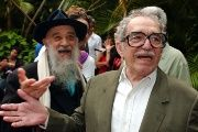 Fernando Birri (L) and Gabriel Garcia Marquez (R) in Havana celebrating the foundation of the New Latin American Cinema.