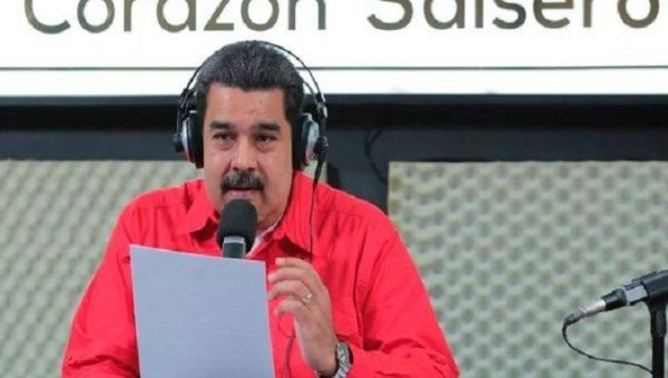 Maduro during his radio show.