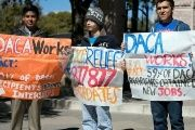 People gather to support DACA.