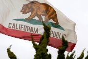 The California flag (FILE).